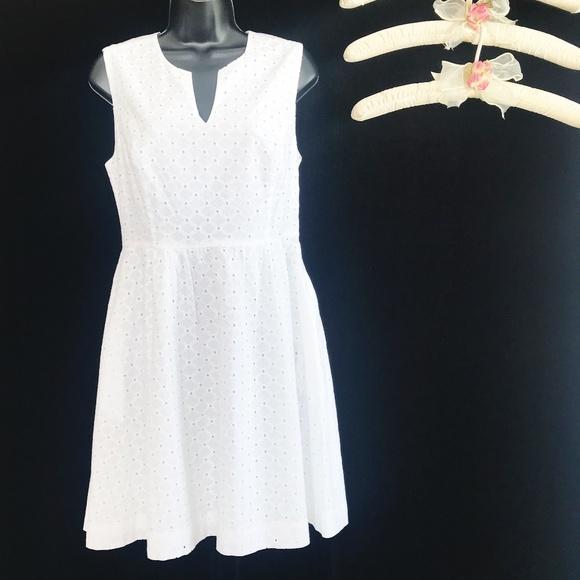 Cynthia Rowley Dresses & Skirts - Cynthia Rowley Sleeveless White Eyelet Dress